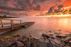 Epic sunrise (arjennoord) Tags: longexposure colour landscape wieringerwerf water clouds sky seascape ijsselmeer sunrise