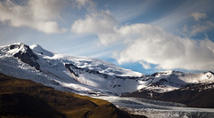 Vatnajökull II (Jack Landau) Tags: vatnajökull glacier mountains clouds ice sheet glacial sky nature landscape vignette highland desert iceland jack landau mountain snow