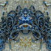 Rope Abstract (AmyEAnderson) Tags: rope mirror symmetrical symmetry effect blue vibrant tangle tangled winding twisted twisting concrete face encrypted visage outdoor middleton wisconsin abstract mirrored