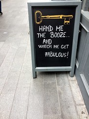 British pub sign (flubberwinkle) Tags: sign pub booze chalkboard london uk fabulous