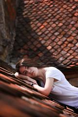 portrait (cosovan.vadim) Tags: portrait girl lady red roof pot nikon d750 nikkor 2470mm f28 natural light dof
