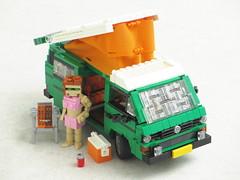 Volkswagen T3 Westfalia camper (Mad physicist) Tags: volkswagen t3 camper westfalia lego van transporter