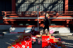 Monkey at Senso-Ji (Jennifer Lea) Tags: sensoji asakusa red temple people wish monkey