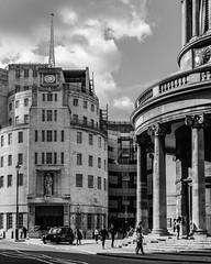 London   |   Auntie's Place (JB_1984) Tags: broadcastinghouse bbc radio television auntie allsoulslanghamplace church artdeco streetphotography blackandwhite bw mono cityofwestminster london england uk