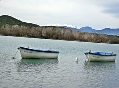 Banyoles (Spain) (j.abellan3) Tags: boat lake landscape phography mountains spain nature water quiet