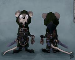 The Gray Mouse (MightyZandor) Tags: fantasy character thief mouse sword sorcery illustration webcomic cartoon