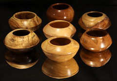 Seven small bowls (Stephen Mildenhall) Tags: woodturning bowl wood lathe woodbowl woodwork