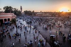 Marrakech (dorinser) Tags: jemaaelfnaa morocco marrakech sunset koutoubia