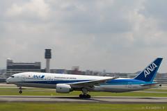 Itami Airport 2017.7.19 (14) JA741A / ANA's B777-200 (double-h) Tags: omd em1markii omdem1markii lumixgxvariopz45175mmf4056asphpowerois rjoo itm osakaairport itamiairport 大阪空港 伊丹空港 airplane 飛行機 伊丹スカイパーク itamiskypark ja741a ana 全日空 b777 b777200