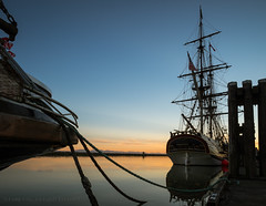 Lady Washington (iPhilFlash) Tags: water outdoor tallship ladywashington vancouver dock silhouette boat stevestonharbour steveston sky richmond canada dusk britishcolumbia outdoors onceuponatime ca