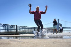 You are never too old to be a kid (PeterThoeny) Tags: sanfrancisco california sanfranciscobay sanfranciscobayarea embarcadero theembarcadero pier pier14 water waterpuddle puddle jump fun joy splash person sony sonya7 a7 a7ii a7mii alpha7mii ilce7m2 fullframe fe2870mmf3556oss 1xp raw photomatix hdr qualityhdr qualityhdrphotography fav50