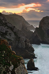 Cracked (FredConcha) Tags: ursa beach coast landscape nature sunset lighthouse sea rocks cliffs cracked fredconcha 2012 clouds colors nikon