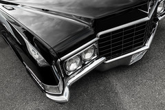 Seriously Low (ISP Bruno Laplante) Tags: low rider black cadillac front end chrome headlights hood car vintage classic 1970 deville