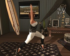 Morning Workout (ZexyQueen) Tags: sl secondlife slphotography slphoto casual taichi reign foxes mbirdie bueno truthhair ootd fashion