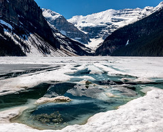 Frozen II (NoVice87) Tags: canada lakelouise nationalpark ice water mountains reflections blue