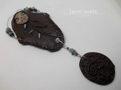 Polymer Clay Pendant Buffalo Shamen Art Doll by LynzCraftz 2 (LynzCraftz) Tags: polymerclay pendant jewelry necklace oneofakind handmade art resin