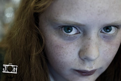 Kids-0483.jpg (Jon Mills Photography) Tags: youth portrait face cute headshot person young photo365 one red girl child stareginger fashion serious eye nose eyes hair