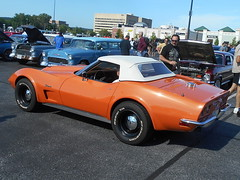 1973 Chevy Corvette Convertible (splattergraphics) Tags: 1973 chevy corvette convertible c3 carshow huntvalleyhorsepower huntvalleytownecentre huntvalleymd