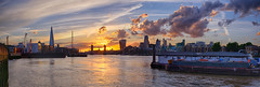 Fire in the clouds (shinobi_8) Tags: sunset london riverthames goldenhour panoramic