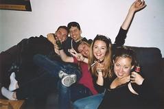 Nimp 4 (Justine Sla) Tags: party fête soirée night nimp toulouse bringue friends team nuit beer alcool alcohol smile rires memories souvenirs sandra clem gaetan marie etienne argentique photo foto photographie pellicule pellicula film ricoh vintage