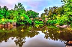 Gapstow Bridge, Central Park New York City during summer. (mitzgami) Tags: green nightphotography travel landscape park summer manhattan inexplore flickr d7000 nikonphotography longexposure newyorkcity centralpark gapstowbridge