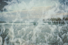 Once (Andrezza Haddaway) Tags: doubleexposure beach pier foam wave water atmosphere