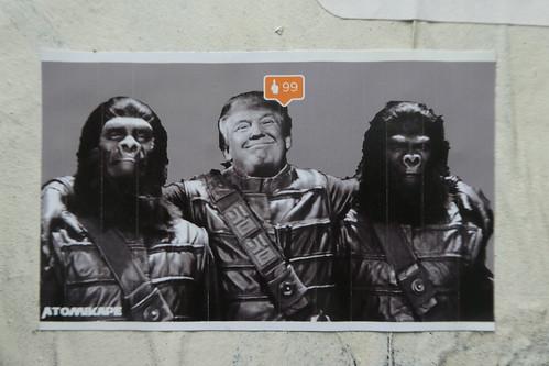 Atomik Ape sticker