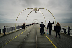 Taking the sea air at Southport (nickcoates74) Tags: a6000 beach coast ilce6000 pier sefton sony southport lancashire uk samyang 12mm 12mmf20 affinityphoto