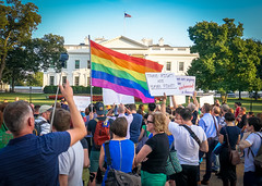 2017.07.26 Protest Trans Military Ban, White House, Washington DC USA 7646
