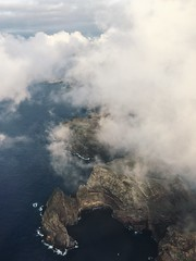 Above the Clouds (Christina Fong) Tags: madeira portugal aerial clouds peninsula ocean