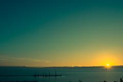 Lirquén (Sebastiandx) Tags: night lights ocean landscape sky blue sun concepción chile nikon d3200 sunset horizon photography photographer photos photo