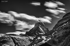 "Cloud Matter (""A.S.A."") Tags: zermatt matterhorn mountain switzerland cantonofvalais europe cloud infrared830nm longexposure slow shutter sonya7rinfrared830nm sony2470f28gm leefilters leebigstopper nd110 neutral density blackwhite mono monochrome greyscale silverefex niksoftware asa2017"