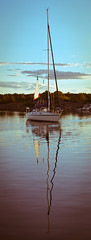 Reflections (mic lup) Tags: reflection water summer sweden sailingboat