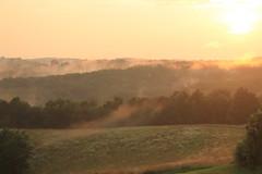 (libb_13) Tags: mist fog overcast sunset sundown hills