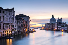 Venice Grand Canal at sunrise
