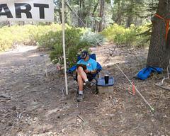 004 Harvey Mans The Start (saschmitz_earthlink_net) Tags: 2017 california orienteering laoc losangelesorienteeringclub bartonflats sanbernardinocounty sanbernardinonationalforest southforktrailhead start banner harveywoo