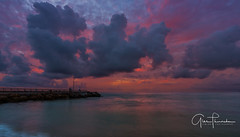 Florida Life: Fishing On Mars (Thūncher Photography) Tags: sony a7r2 sonya7r2 ilce7rm2 zeissfe1635mmf4zaoss fx fullframe scenic landscape waterscape oceanscape nature outdoors sky clouds colors reflections sunrise pier jupiterinlet jupiterbeach jupiter florida southeastflorida palmbeachcounty beach tropical