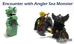 Encounter with Angler Sea Monster (WhiteFang (Eurobricks)) Tags: lego collectable minifigures series city town space castle medieval ancient god myth minifig distribution ninja history cmfs sports hobby medical animal pet occupation costume pirates maiden batman licensed dance disco service food hospital child children knights battle farm hero paris sparta historic ninjago movie sensei japan japanese cartoon 20 blockbuster cinema people toy