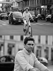 [La Mia Città][Pedala] (Urca) Tags: milano italia 2017 bicicletta pedalare ciclista ritrattostradale portrait dittico bike bicycle nikondigitale scéta biancoenero blackandwhite bn bw 102655