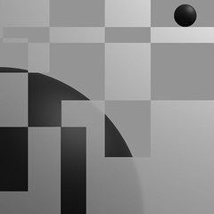 ECOS: Exploring Compositions Of Shapes => Img. 01 (Michalis_Kalamenios) Tags: ecos 3d render cgi art composition shapes bw monochrome geometrical geometry balance tones minimal simple black white computer contrast graphic experimental exploring equilibrium calm grey greyscale