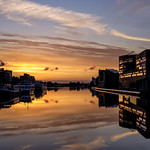 Sunrise over the canal thumbnail