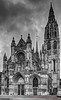 Notre Dame Caudebec-en-caux facade (Jeff Parry Photography) Tags: 15thcentury 16thcentury arthistory bw blackandwhite caudebecencaux france frenchgothic gothic hdr architechture facade longexposure