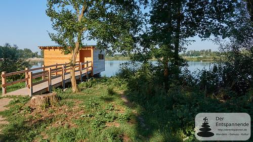 Altrheinsee, Beobachtungshütte am Erlebnispfad bei Eich