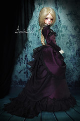 Victoria's Dress (AyuAna) Tags: bjd ball jointed dollfie doll ayuana design handmade ooak clothing clothes dress set historical fantasy victorian style dim dollinmind laia hybrid withdoll msd body