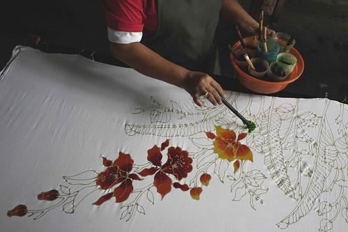 Batik making...