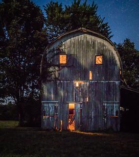 Light-Painted Barn