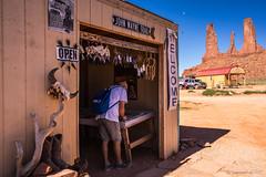 Shopping at John Ford's Point (NettyA) Tags: 2017 america arizona monumentvalley navajotribalpark northamerica sonya7r us usa rock travel johnfordspoint shop tourist tourism thethreesisters moon