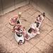 Décoration dans les toilettes du Restaurant-traiteur