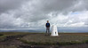 30 of 52 trig points (Ron Layters) Tags: 2017 ronlayters selfportrait 52trigpoints pendlehill trigpoint summit windy rainontheway erosion clouds pillar tp5370 fbs2161 forestofbowland areaofoutstandingnaturalbeauty barley nelson lancashire england unitedkingdom 52weeks 52 phonecamera iphone apple appleiphone6 selftimer tripod 10secondtimer weekthirty week30 30