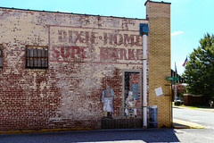 Old Dixie - Home Super Market Ad - Laurens S.C. (DT's Photo Site - Anderson S.C.) Tags: canon 6d 24105mml laurenssc upstate south carolina dixie home stores vintage disappearing nostalgic vanishing southern america usa landscape grocery store southernlife